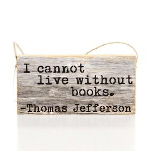 """""""I Cannot...Books"""" Door Hang"""